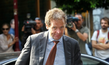 Poul Thomsen, representative of International Monetary Fund (IMF), arrives at the Greek Finance Ministry for a meeting with Greek Finance Minister Yannis Stournaras in Athens, Greece, 05 October 2012.