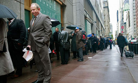 US unemployment line 010 American Dream in trouble