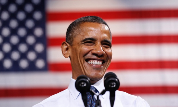 The unemployment rate dropped to a near four-year low of 7.8 percent in September giving president Barack Obama something to smile about in Fairfax, Virginia.