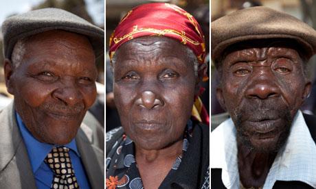 Kenyans Wambuga Wa Nyingi, Jane Muthoni Mara and Paulo Muoka Nzili in Mau Mau case
