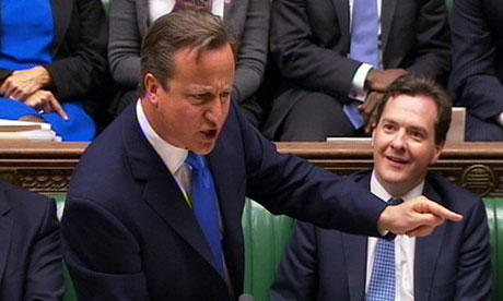 Calm down, dear: Cameron at prime minister's questions.