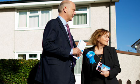 Chris Grayling and Christine Emmett
