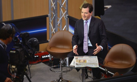 George Osborne speaks during his Sky television interview