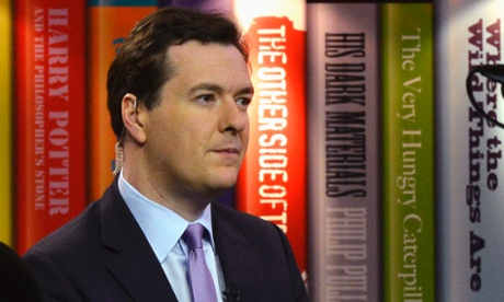 George Osborne is interviewed on TV at the Conservative party conference in Birmingham