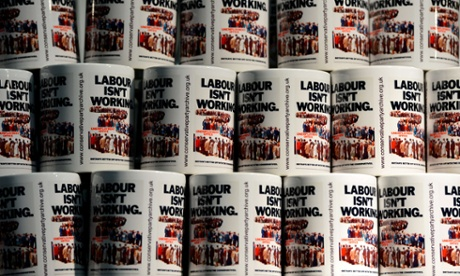 labour isn't working mugs at the conservative party conference