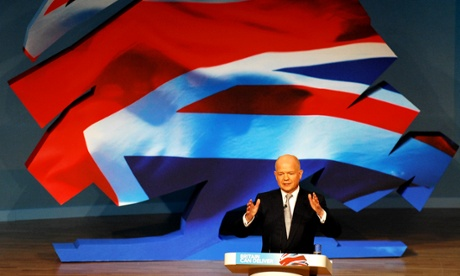 William Hague speaks at the Conservative party conference