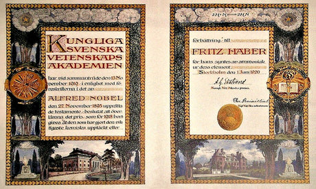 A Nobel Prize Diploma from 1918