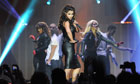 Cheryl Cole performs on the opening night of her A Million Lights tour