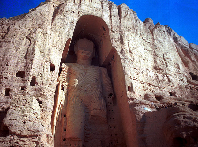 Defaced artworks: The Bamiyan Buddha damaged by the Taliban