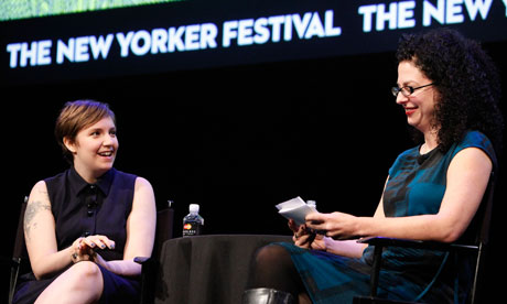 Lena Dunham and Emily Nussbaum at the New Yorker festival