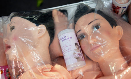 Sex dolls on show in Guangzhou. Photograph: Dan Chung for the Guardian