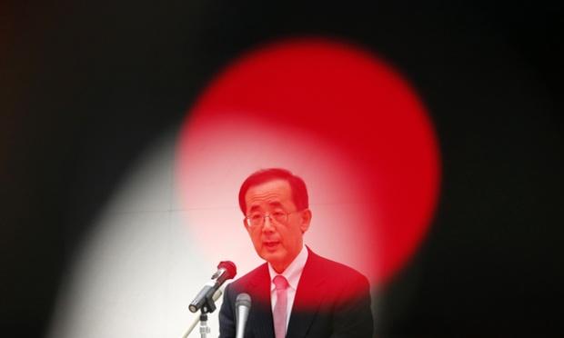 Bank of Japan Governor Masaaki Shirakawa delivers a speech in Tokyo.