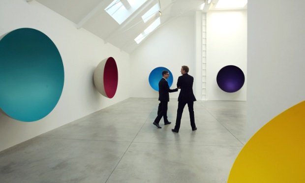 Exhibition of work by artist Anish Kapoor at the Lisson Gallery, London.