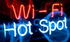 Wi-Fi hot spot neon sign