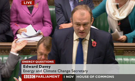 Ed Davey speaking in parliament on 1 November 2012.