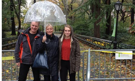 Jill Papworth and family in New York