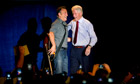 Bill Clinton campaigns with Bruce Springsteen