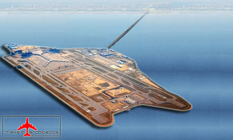 A spoof proposal by 'Make It Architects' for London-Southend Pier International Airport