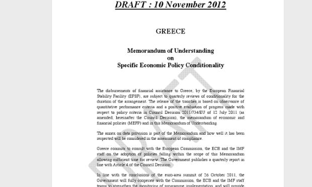 Greek Letter Seeking New Bailout