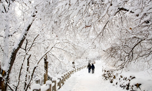 China's Jilin city, which could be mistaken for Narnia, is transformed by heavy snowfall which has closed schools and businesses