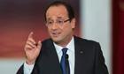 French president François Hollande at the Élysée palace in Paris