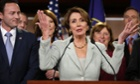 House minority leader Nancy Pelosi of California at a news conference on Capitol Hill in Washington, 13 November 2012.