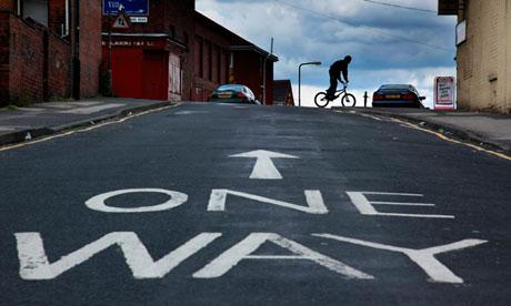 A one way street