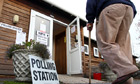 A polling station for the police and crime commissioner election in Bethersden, Kent