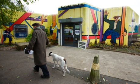 Guardian photographer Chris Thomond found this more colourful polling station at Newton Heath Library in Manchester as people vote for their new MP in the Manchester Central by-election and the first police and crime commissioner for Greater Manchester.