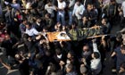 Funeral of four-year-old girl Ranan Arafah killed by Israeli airstrike, Gaza City - 15 Nov 2012
