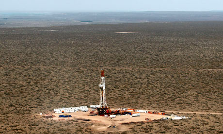 A shale oil drilling rig