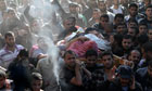 Funeral of Hamas military commander Ahmed Ja'abari
