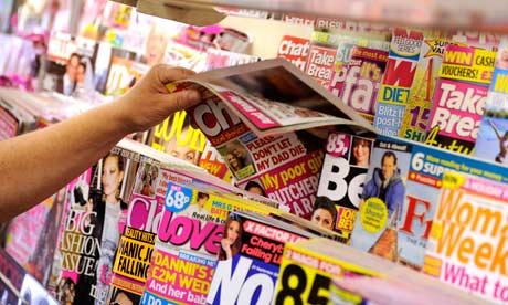 Magazines on a stand in a newsagents. Image shot 09/2009. Exact date unknown.