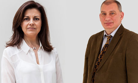 Jacqui Hames and Nick Cohen