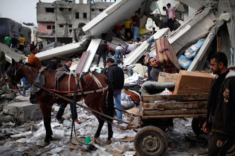 Bombing Gaza to Middle Ages