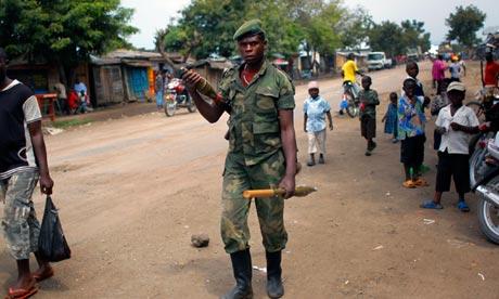 M23 soldier near Goma, Congo