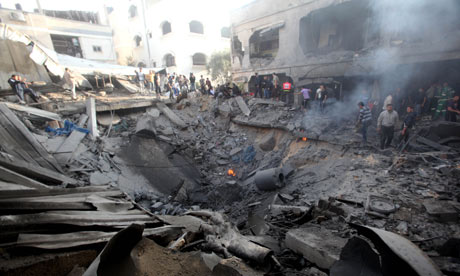 Aftermath of Israeli Airstrikes in Gaza