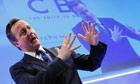 David Cameron addresses CBI annual conference