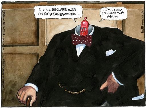 20.11.12: Steve Bell on David Cameron's speech at CBI conference