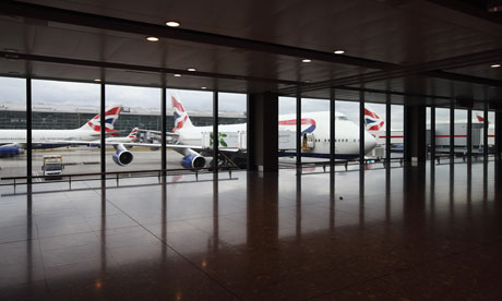 Planes at Heathrow Terminal 5