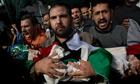Funeral of members of the Daloo family in Gaza