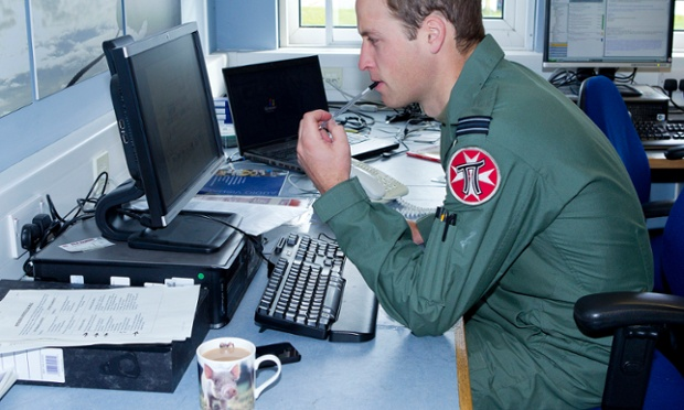 It's all in a day's work for Flight Lieutenant Wales. Pictures released today aim show a typical