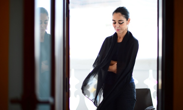 Jury Member Shirin Neshat is captured in an elegant portrait during the 2012 Doha Tribeca Film Festival at the AL Najada Hotel in Doha, Qatar.