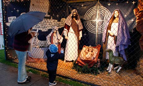 A nativity display