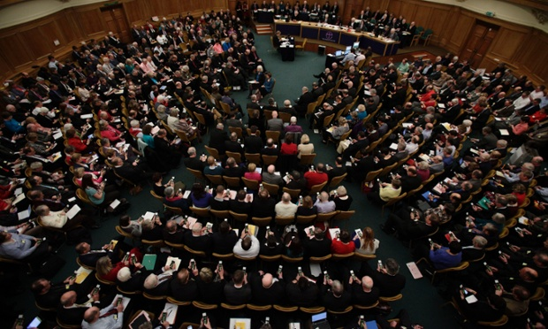 A missed opportunity: Members vote on handsets to decide whether to give final approval to legislation introducing the first women bishops, during a meeting of the General Synod of the Church of England in London. The Church of England voted against legislation, the culmination of more than 10 years of divisive debate.