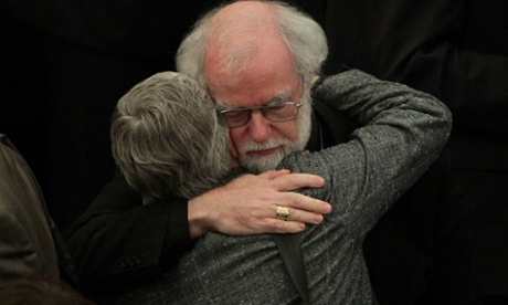 Dr Rowan Williams, the outgoing Archbishop of Canterbury, after draft legislation introducing the first wom