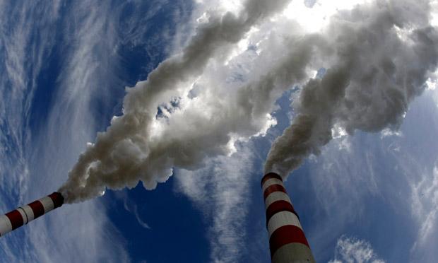 Chimney smoke carbon emission