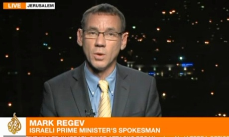 Israeli government spokesman Mark Regev in a screen grab from Al-Jazeera.