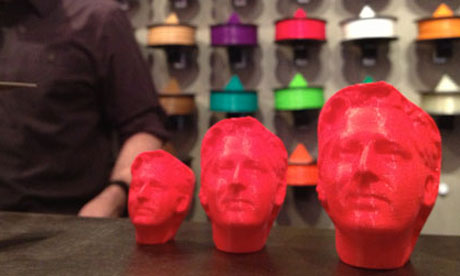 MakerBot plastic heads available in three sizes