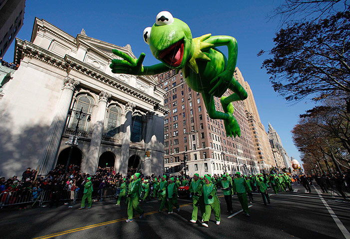24 hours in pictures: A Kermit the Frog balloon in New York
